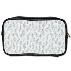 Turquoise Damask Pattern Toiletries Bags 2 Side by Zandiepants