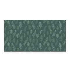 Whimsical Feather Pattern, Forest Green Satin Wrap by Zandiepants