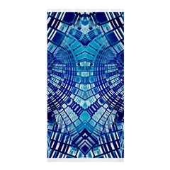 Blue Mirror Abstract Geometric Shower Curtain 36  X 72  (stall)  by CrypticFragmentsDesign