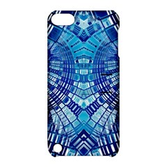 Blue Mirror Abstract Geometric Apple Ipod Touch 5 Hardshell Case With Stand by CrypticFragmentsDesign