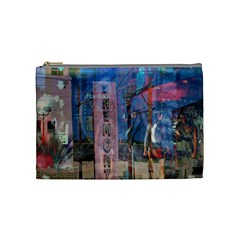 Las Vegas Strip Walking Tour Cosmetic Bag (medium)  by CrypticFragmentsDesign