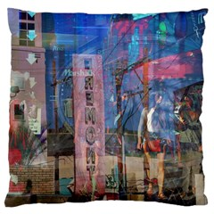Las Vegas Strip Walking Tour Large Cushion Case (one Side) by CrypticFragmentsDesign