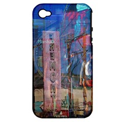 Las Vegas Strip Walking Tour Apple Iphone 4/4s Hardshell Case (pc+silicone) by CrypticFragmentsDesign