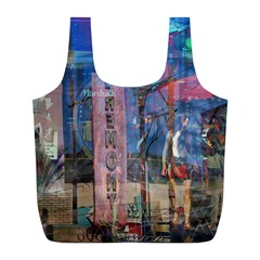 Las Vegas Strip Walking Tour Full Print Recycle Bags (l)  by CrypticFragmentsDesign