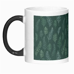 Whimsical Feather Pattern, Forest Green Morph Mug by Zandiepants