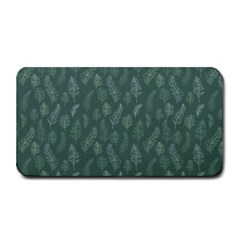 Whimsical Feather Pattern, Forest Green Medium Bar Mat by Zandiepants