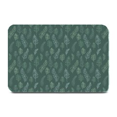Whimsical Feather Pattern, Forest Green Plate Mat by Zandiepants