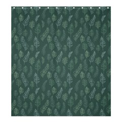 Whimsical Feather Pattern, Forest Green Shower Curtain 66  X 72  (large) by Zandiepants