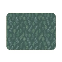 Whimsical Feather Pattern, Forest Green Double Sided Flano Blanket (mini) by Zandiepants