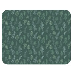 Whimsical Feather Pattern, Forest Green Double Sided Flano Blanket (medium) by Zandiepants