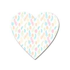 Whimsical Feather Pattern,fresh Colors, Magnet (heart) by Zandiepants