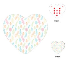 Whimsical Feather Pattern,fresh Colors, Playing Cards (heart) by Zandiepants