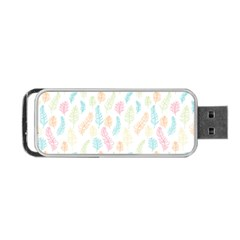 Whimsical Feather Pattern,fresh Colors, Portable Usb Flash (one Side) by Zandiepants