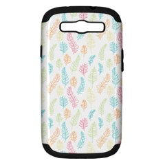 Whimsical Feather Pattern,fresh Colors, Samsung Galaxy S Iii Hardshell Case (pc+silicone) by Zandiepants
