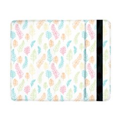 Whimsical Feather Pattern,fresh Colors, Samsung Galaxy Tab Pro 8 4  Flip Case by Zandiepants