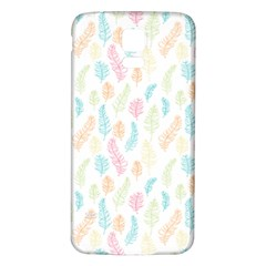 Whimsical Feather Pattern,fresh Colors, Samsung Galaxy S5 Back Case (white) by Zandiepants