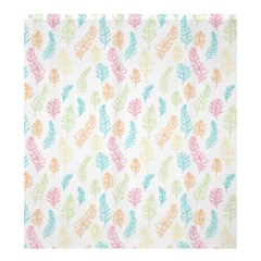 Whimsical Feather Pattern,fresh Colors, Shower Curtain 66  X 72  (large) by Zandiepants