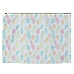 Whimsical Feather Pattern,fresh Colors, Cosmetic Bag (xxl) by Zandiepants