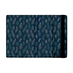Whimsical Feather Pattern, Midnight Blue, Apple Ipad Mini Flip Case by Zandiepants