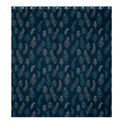 Whimsical Feather Pattern, Midnight Blue, Shower Curtain 66  X 72  (large) by Zandiepants