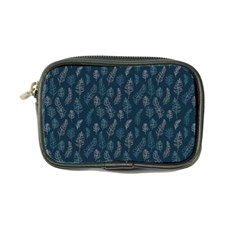 Whimsical Feather Pattern, Midnight Blue, Coin Purse by Zandiepants