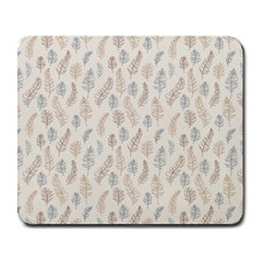 Whimsical Feather Pattern, Nature Brown, Large Mousepad by Zandiepants