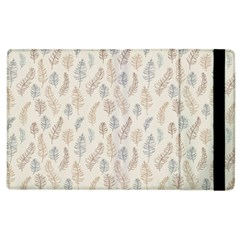 Whimsical Feather Pattern, Nature Brown, Apple Ipad 3/4 Flip Case by Zandiepants