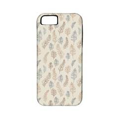 Whimsical Feather Pattern, Nature Brown, Apple Iphone 5 Classic Hardshell Case (pc+silicone) by Zandiepants