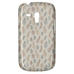 Whimsical Feather Pattern, Nature Brown, Samsung Galaxy S3 Mini I8190 Hardshell Case by Zandiepants