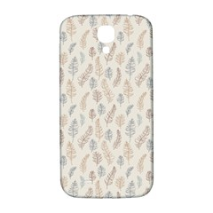 Whimsical Feather Pattern, Nature Brown, Samsung Galaxy S4 I9500/i9505  Hardshell Back Case by Zandiepants