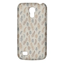 Whimsical Feather Pattern, Nature Brown, Samsung Galaxy S4 Mini (gt I9190) Hardshell Case  by Zandiepants