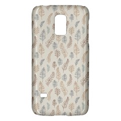 Whimsical Feather Pattern, Nature Brown, Samsung Galaxy S5 Mini Hardshell Case  by Zandiepants