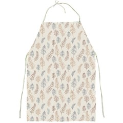 Whimsical Feather Pattern, Nature Brown, Full Print Apron by Zandiepants