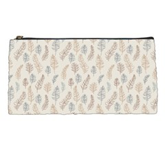 Whimsical Feather Pattern, Nature Brown, Pencil Case by Zandiepants