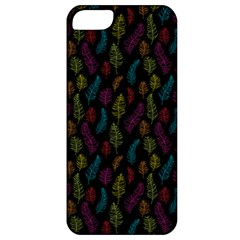 Whimsical Feather Pattern, Bright Pink Red Blue Green Yellow, Apple Iphone 5 Classic Hardshell Case by Zandiepants