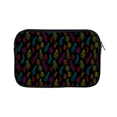 Whimsical Feather Pattern, Bright Pink Red Blue Green Yellow, Apple Ipad Mini Zipper Case by Zandiepants
