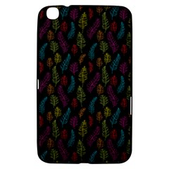 Whimsical Feather Pattern, Bright Pink Red Blue Green Yellow, Samsung Galaxy Tab 3 (8 ) T3100 Hardshell Case  by Zandiepants