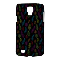 Whimsical Feather Pattern, Bright Pink Red Blue Green Yellow, Samsung Galaxy S4 Active (i9295) Hardshell Case by Zandiepants
