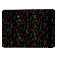 Whimsical Feather Pattern, Bright Pink Red Blue Green Yellow, Samsung Galaxy Tab Pro 12 2  Flip Case by Zandiepants