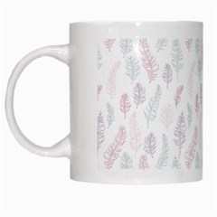 Whimsical Feather Pattern, Soft Colors, White Mug by Zandiepants