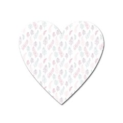 Whimsical Feather Pattern, Soft Colors, Magnet (heart) by Zandiepants