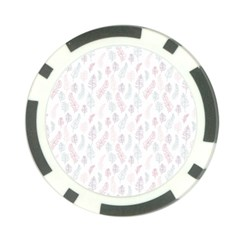 Whimsical Feather Pattern, Soft Colors, Poker Chip Card Guard (10 Pack)
