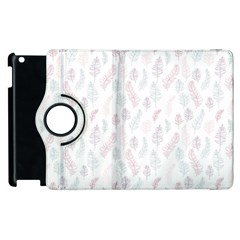 Whimsical Feather Pattern, Soft Colors, Apple Ipad 3/4 Flip 360 Case by Zandiepants