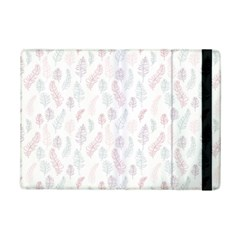Whimsical Feather Pattern, Soft Colors, Apple Ipad Mini 2 Flip Case by Zandiepants