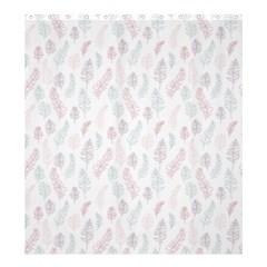 Whimsical Feather Pattern, Soft Colors, Shower Curtain 66  X 72  (large) by Zandiepants