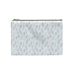 Whimsical Feather Pattern, Soft Colors, Cosmetic Bag (medium) by Zandiepants