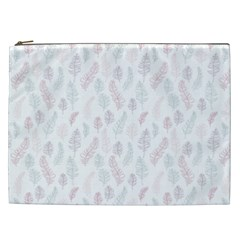 Whimsical Feather Pattern, Soft Colors, Cosmetic Bag (xxl) by Zandiepants