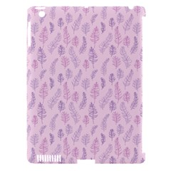 Whimsical Feather Pattern, Pink & Purple, Apple Ipad 3/4 Hardshell Case (compatible With Smart Cover) by Zandiepants