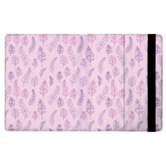 Whimsical Feather Pattern, Pink & Purple, Apple Ipad 2 Flip Case by Zandiepants