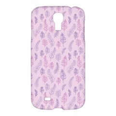 Whimsical Feather Pattern, Pink & Purple, Samsung Galaxy S4 I9500/i9505 Hardshell Case by Zandiepants